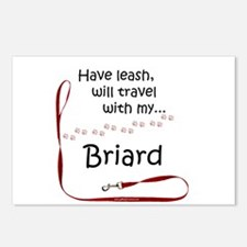 Briard Travel Leash Postcards (Package of 8)