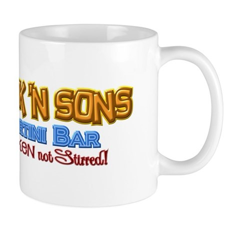 Parkinsons Park N Sons Martini Bar Shaken 3D Mug