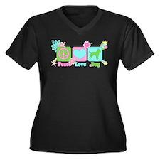Amstaff Women's Plus Size V-Neck Dark T-Shirt
