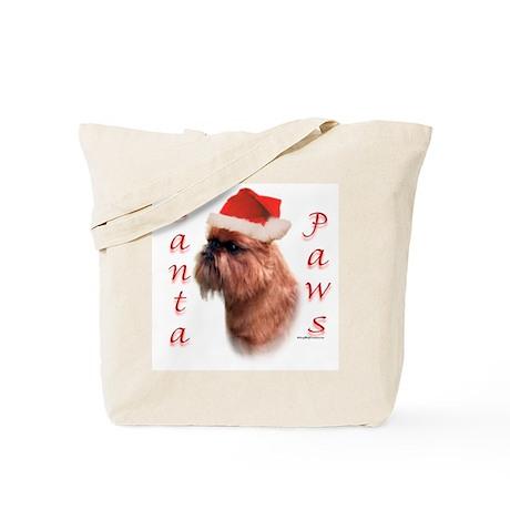 Santa Paws Brussels Griffon Tote Bag