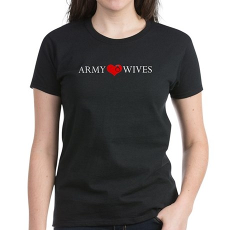 Army Wives Heart and Ring Women's Dark T-Shirt