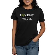 I Love Army Wives Camo Heart Tee