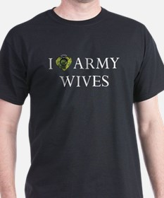 I Love Army Wives Camo Heart T-Shirt