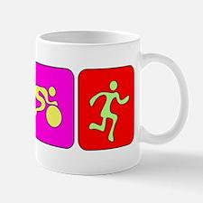 Triathlon Color Figures Bumper Mug