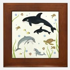 Ocean Animal Framed Tile
