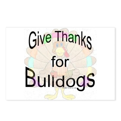 Thanks for Bulldog Postcards (Package of 8)