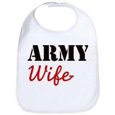 Cute Army Wife Bib