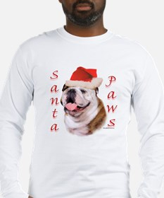 Santa Paws Bulldog Long Sleeve T-Shirt