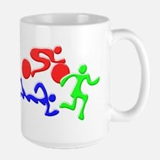 Triathlon Color Figures 3D Mug
