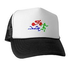 Triathlon Color Figures 3D Trucker Hat