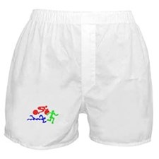 Triathlon Color Figures 3D Boxer Shorts