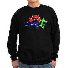 Triathlon Color Figures 3D Sweatshirt