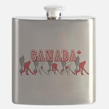Canada Field Hockey Flask