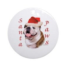Santa Paws Bulldog Ornament (Round)