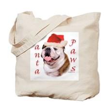 Santa Paws Bulldog Tote Bag