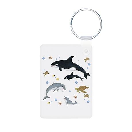 Ocean Animal Aluminum Photo Keychain