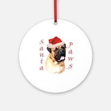 Santa Paws Bullmastiff Ornament (Round)