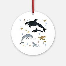 Ocean Animal Ornament (Round)