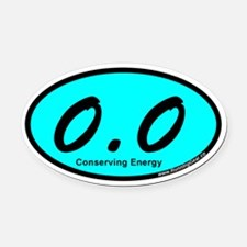 AquaZeroPointZero Oval Car Magnet
