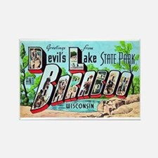 Baraboo Wisconsin Greetings Rectangle Magnet