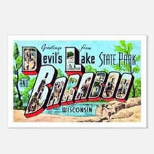 Baraboo Wisconsin Greetings Postcards (Package of