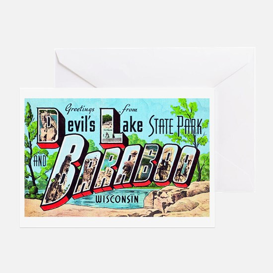 Baraboo Wisconsin Greetings Greeting Card