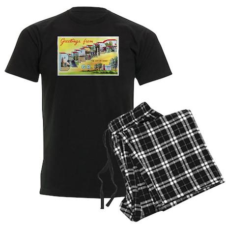 Bainbridge Georgia Greetings Men's Dark Pajamas