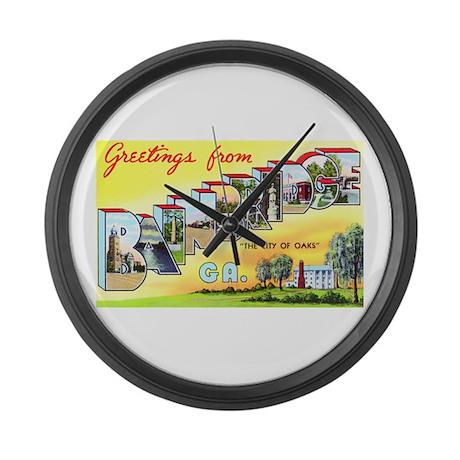 Bainbridge Georgia Greetings Large Wall Clock