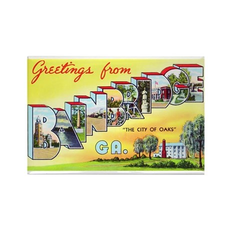 Bainbridge Georgia Greetings Rectangle Magnet (10