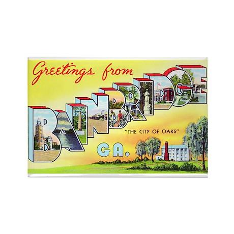 Bainbridge Georgia Greetings Rectangle Magnet (100