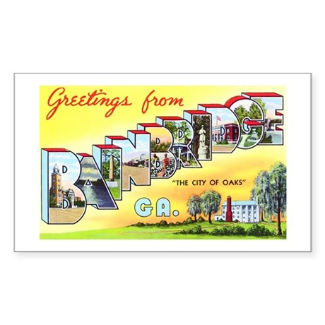 Bainbridge Georgia Greetings Sticker (Rectangle)