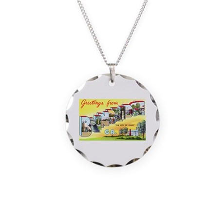 Bainbridge Georgia Greetings Necklace Circle Charm