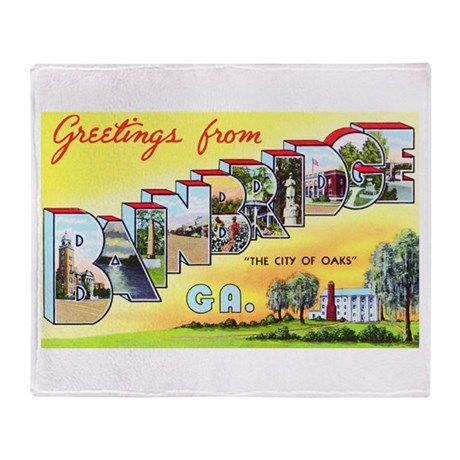 Bainbridge Georgia Greetings Throw Blanket