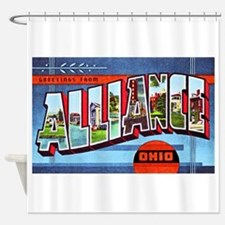 Alliance Ohio Greetings Shower Curtain