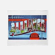 Alliance Ohio Greetings Throw Blanket
