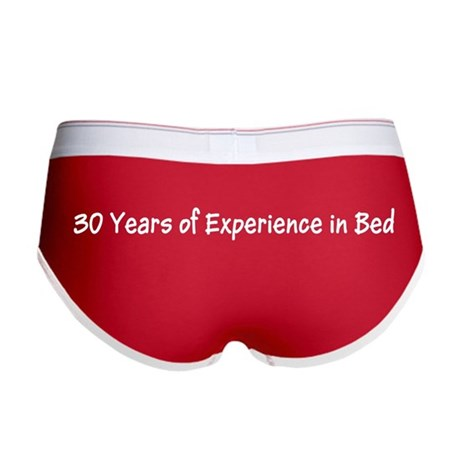 Funny 30 Years Experience in Bed Women's Boy Brief
