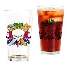 Carpenter Skull Drinking Glass