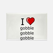 i love to gobble on Thanksgiving Turkey day Rectan
