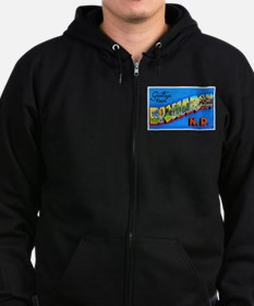 Bismarck North Dakota Greetings Zip Hoodie (dark)