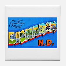 Bismarck North Dakota Greetings Tile Coaster