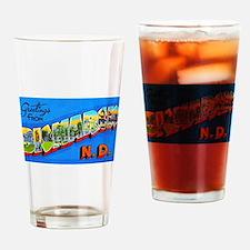 Bismarck North Dakota Greetings Drinking Glass