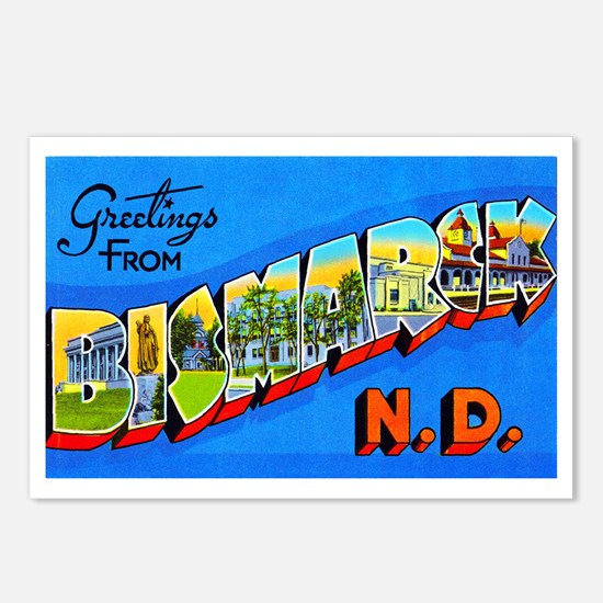 Bismarck North Dakota Greetings Postcards (Package