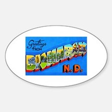 Bismarck North Dakota Greetings Decal