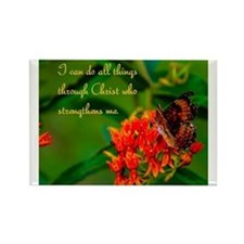 All Things Through Christ Rectangle Magnet