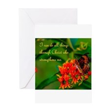 All Things Through Christ Butterfly Greeting Card