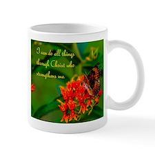 All Things Through Christ Butterfly Mug