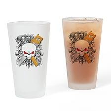 Handyman Skull Drinking Glass
