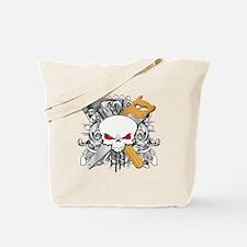 Handyman Skull Tote Bag