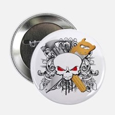 "Handyman Skull 2.25"" Button"