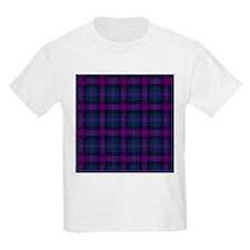 purple tartan T-Shirt